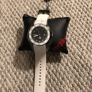 NWT Men's Redline Watch White w/ Black Face NEW